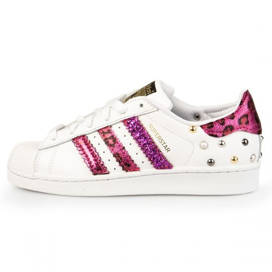 adidas superstar triple fuxia leo