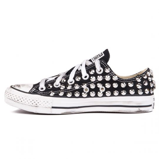 all star BLACK LOW cone skull