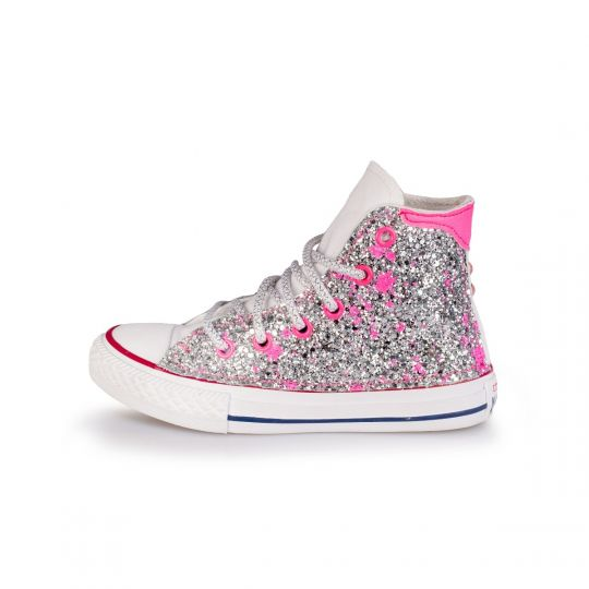 ALL STAR DE-LA GLITTER DRIP FUXIA kid