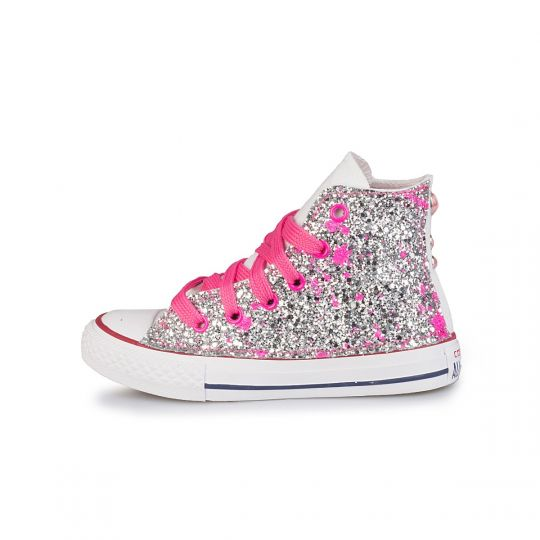 all star glitter drip fuxia 20-26