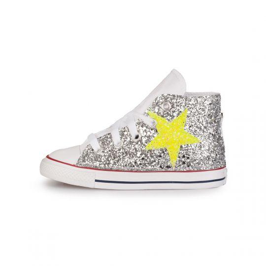 all star glitter neon stars kid xx