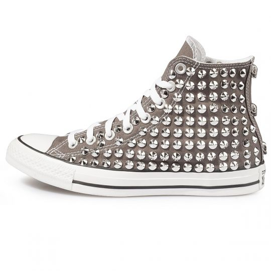 all star GREY CHARCOAL cone skull