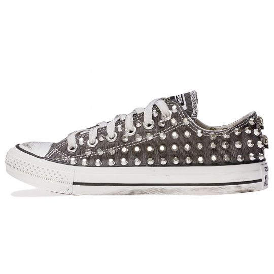 all star GREY LOW CHARCOAL CUT