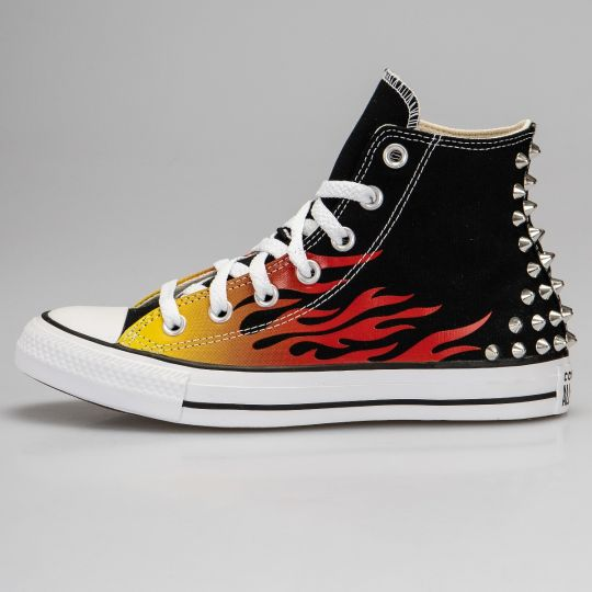 All Star Hi Black Back Flame