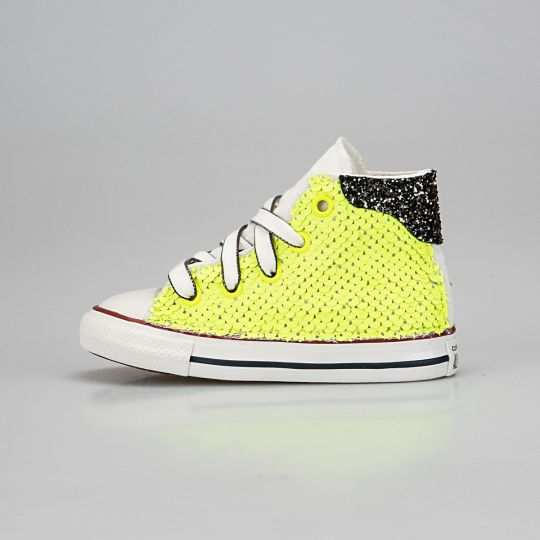 All Star Hi Black De-la Fluo Paillettes Kid