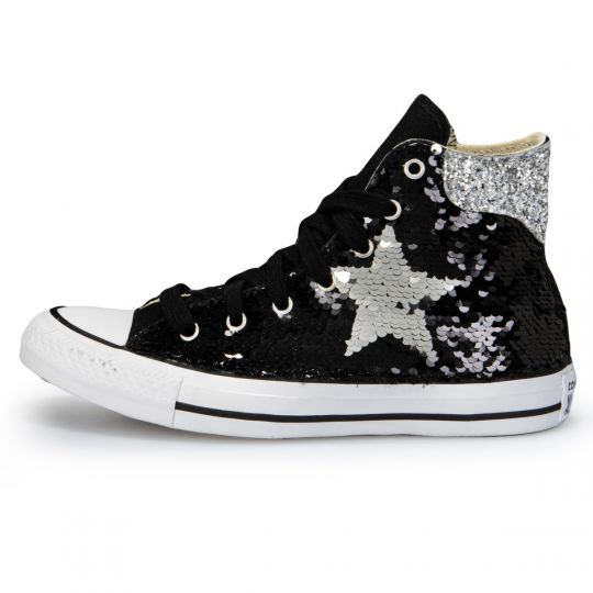 All Star Hi Black De-la stars Paillettes