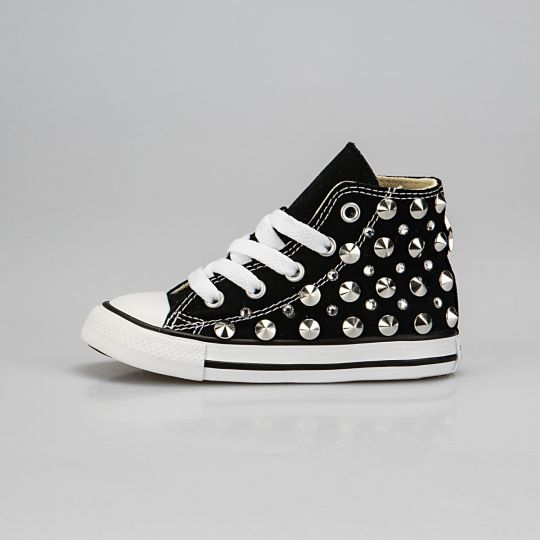All Star Hi Black Studs / Swarovski Kid