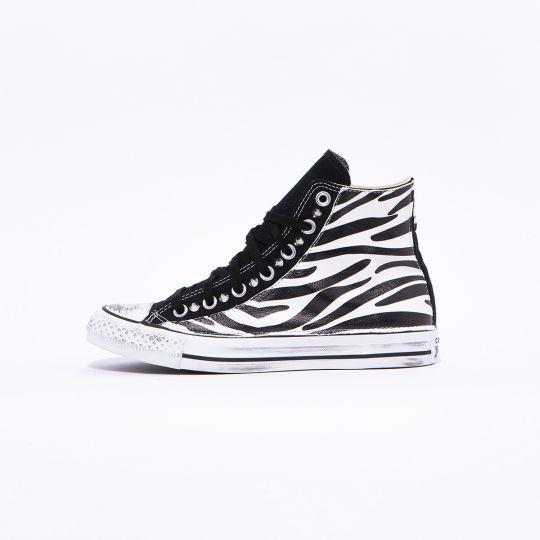All Star Hi Black Zebra