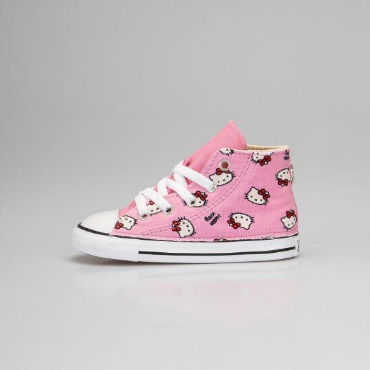 All Star Hi Pink Hello Cat