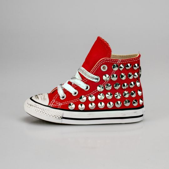 All Star Hi Red Full Studs Kid