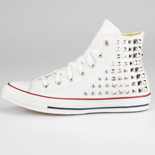 All Star Hi White Geometry Pelle