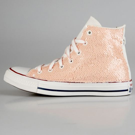 All Star Hi White Pailettes Pale