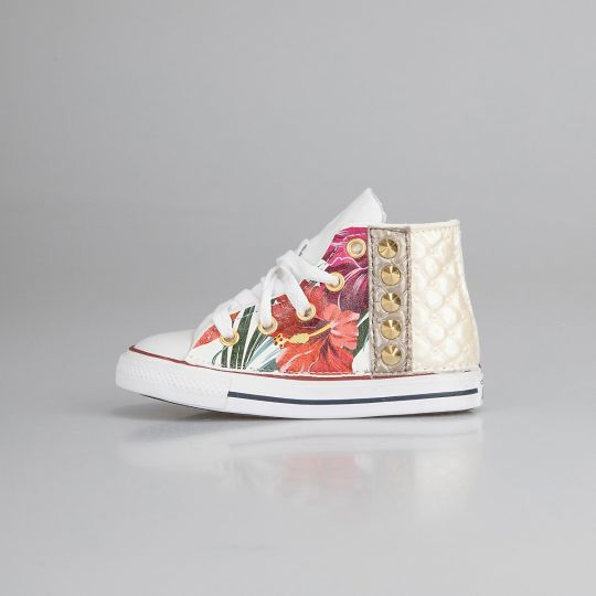 All Star Hi White Stripe Paradiso Kid