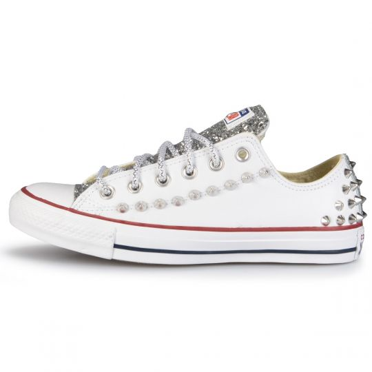 All Star Low White Runaways back pelle
