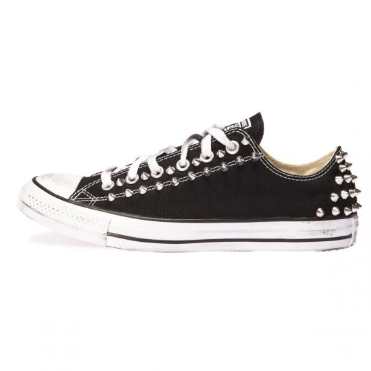 all star low BACK SILVER BLACK