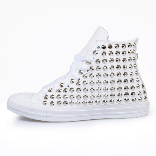 all star mono white cone pelle