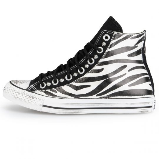 All Star Hi Black Zebra