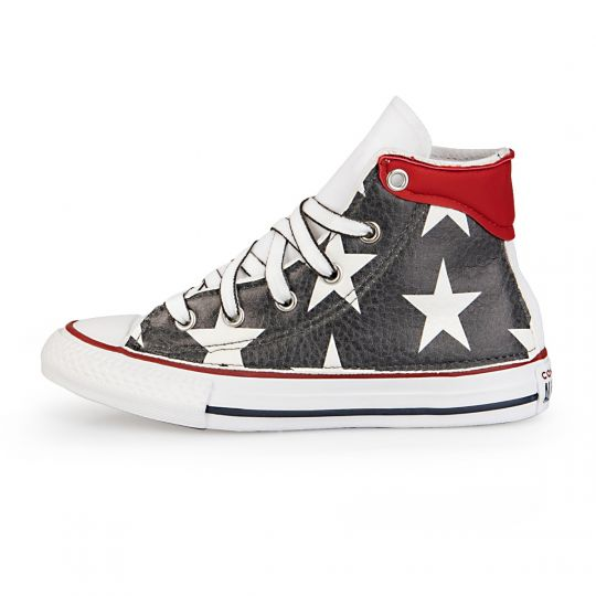 All Star hi White De-la Black Stars Kid