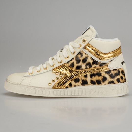 Diadora Game Hi Animalier Gold