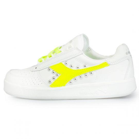 diadora yellow neon studs