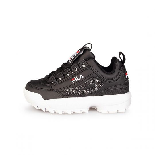 FILA DISRUPTOR BLACK GLITTER KID