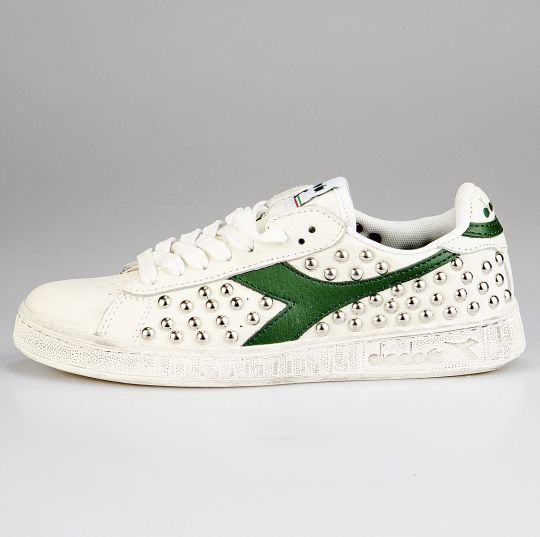 diadora game green studs