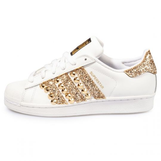 SUPERSTAR STRIPES GOLD STUDS