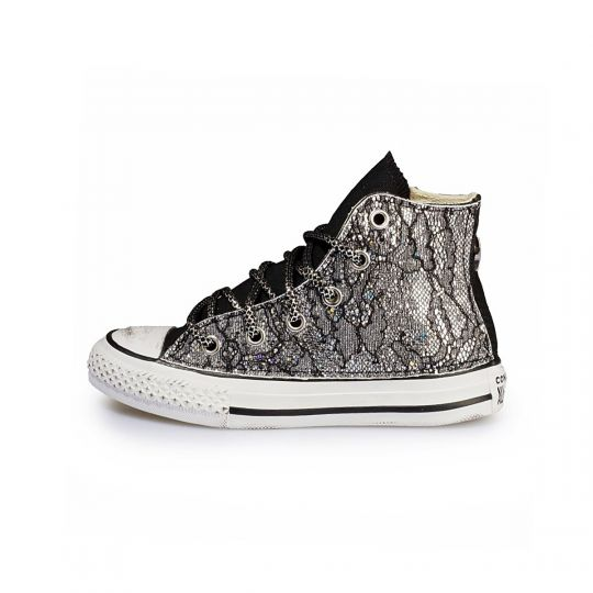All star hi LACY BLACK GLITTER Kid