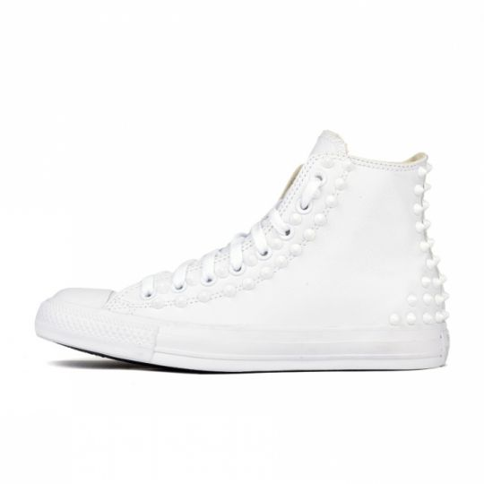 all star mono white pelle