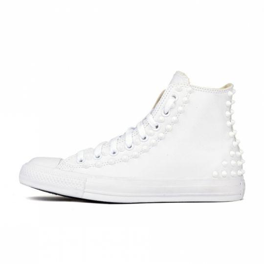 all star mono white back pelle