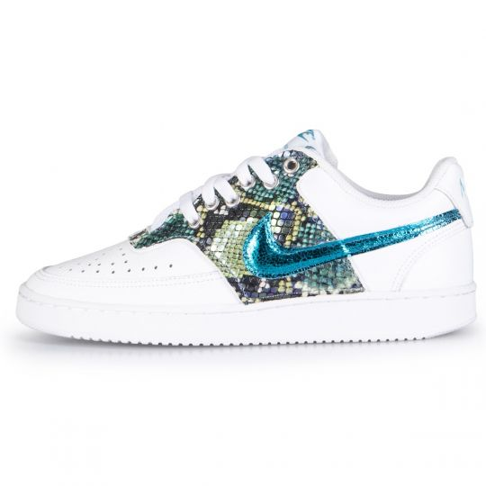 Nike Air Force Court White Pytho Cyan