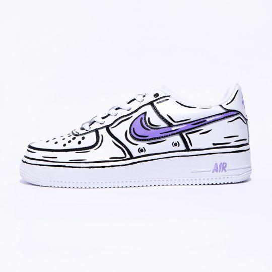 Nike air force one Cosplay Purple