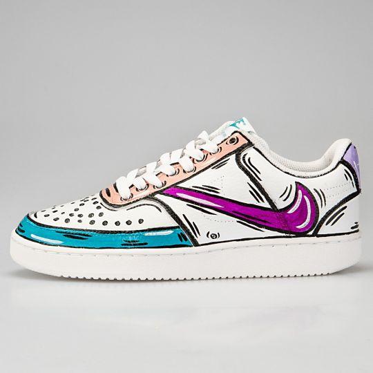 Nike Court White Cosplay Belle Reverse