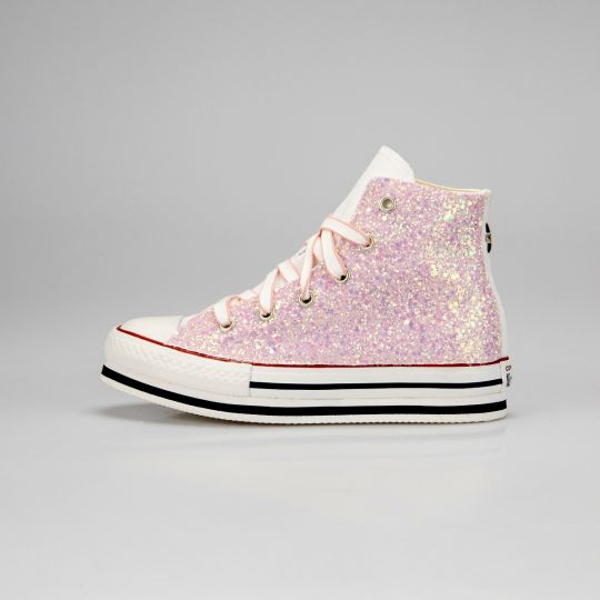 Platform Hi White Runaways Pinky Kid