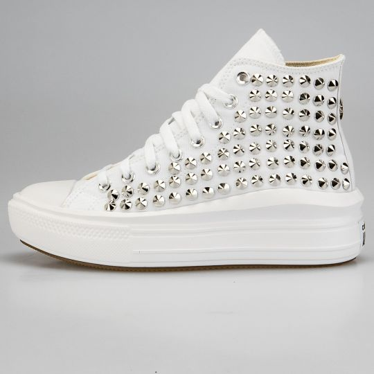 Platform Hi Move Mono White Full Studs