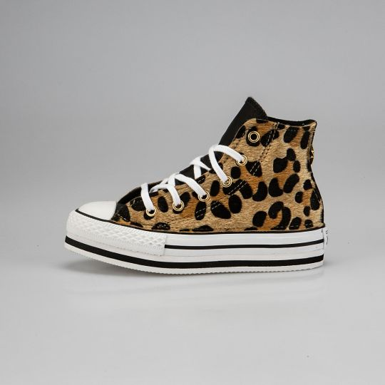 Platform Hi White Animalier  Savage Kid