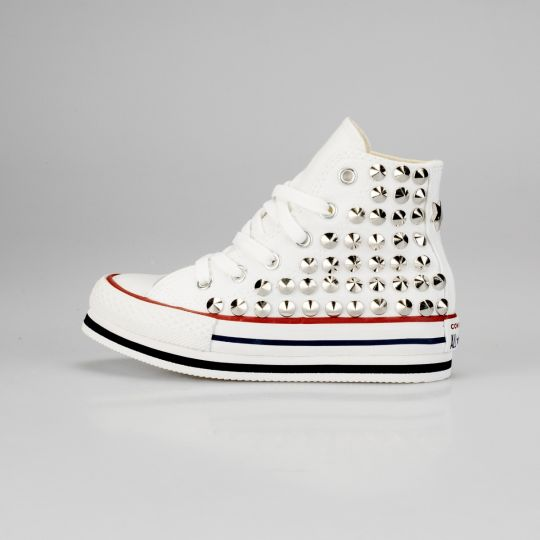 Platform Hi White Full Studs Kid