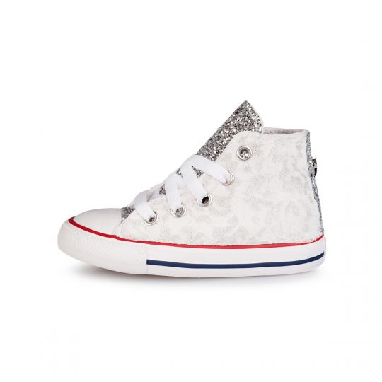 all star hi runaways lacy silver kid