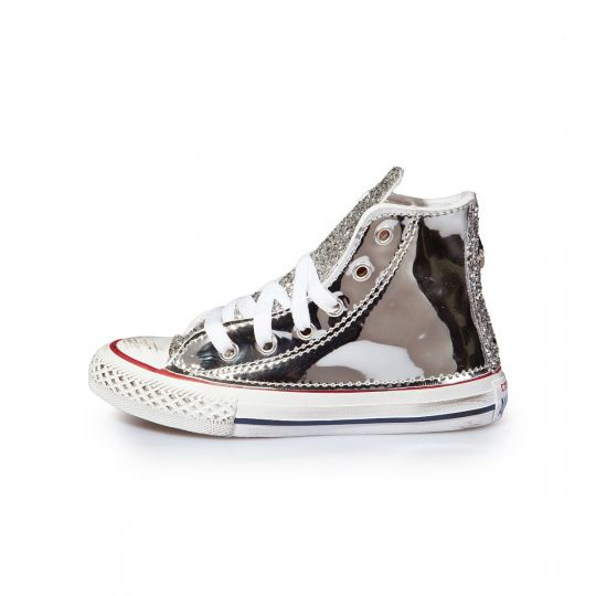 All star hi RUNAWAYS VINYL SILVER Kid