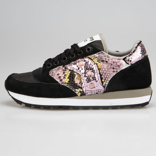 Saucony Jazz Black Pytho Mirror Rose