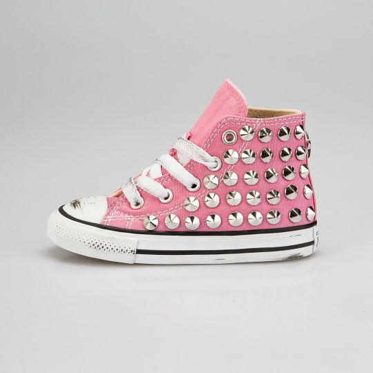 all star hi PINK FULL STUDS KID