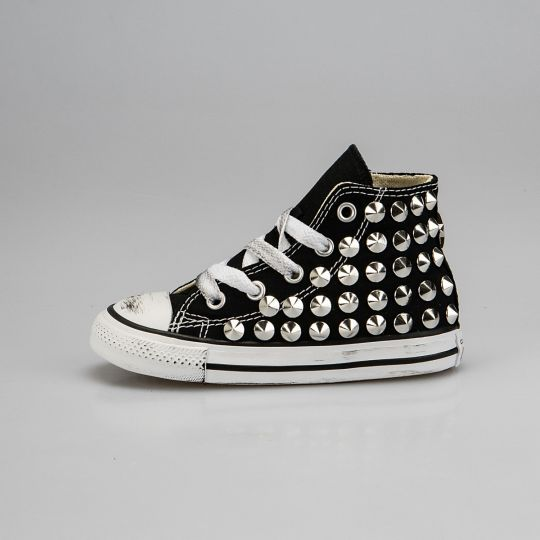 all star black full studs kid