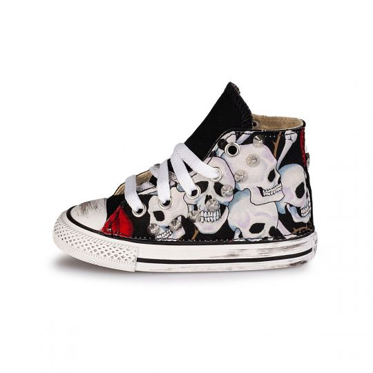 All star hi SKULL & ROSES Kid