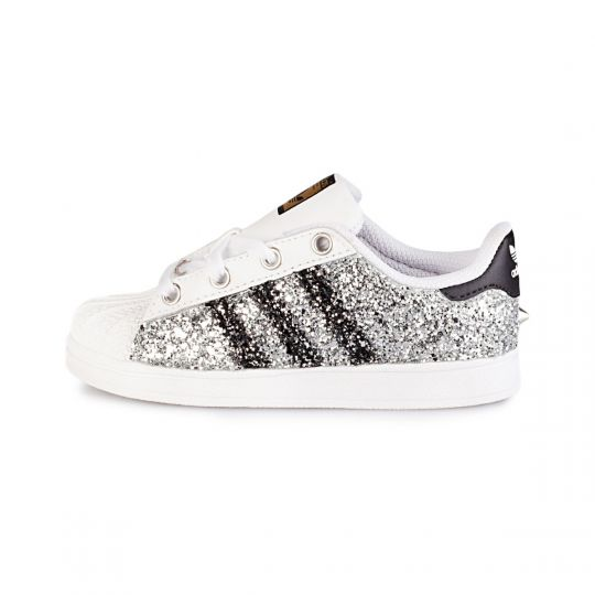 Adidas superstar dmc silver kid
