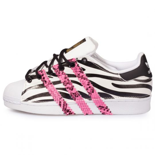 SUPERSTAR LEO B/W fluo STRIPES