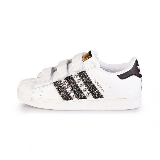 Adidas superstar wu-tang black strap kid