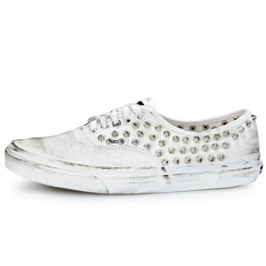 Vans Authentic White Full Studs Dirty