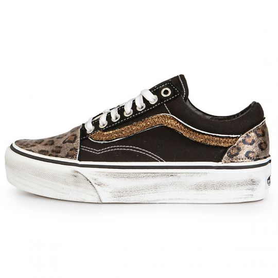 Vans Old Skool Platform Black  Leo Rust Reflex