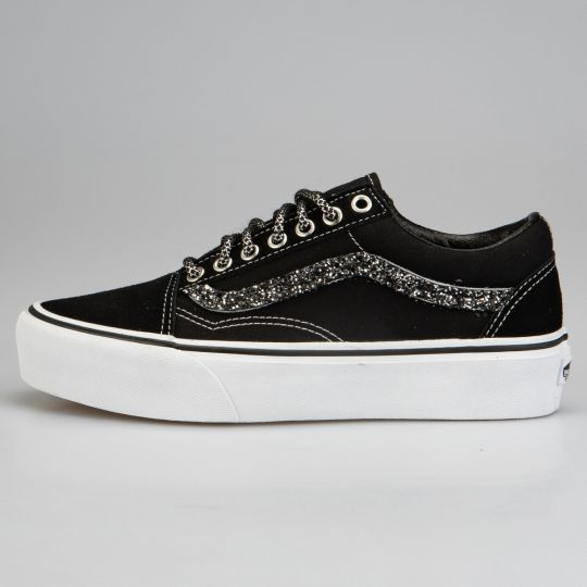 Vans Old Skool Platform Black  Runaways Dark