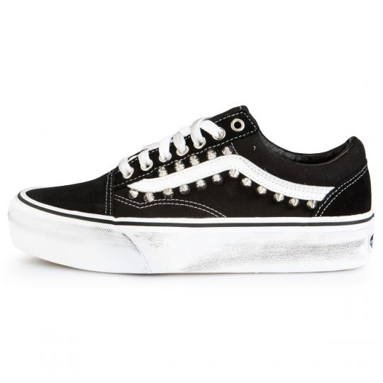 Vans Old Skool Platform Black Studs